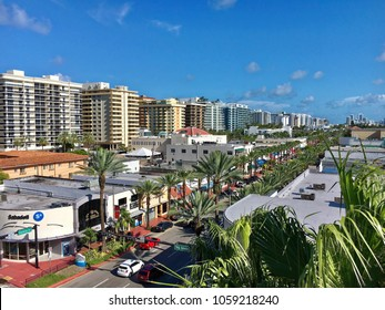Miami beach, Florida - July 18, 2016: Surfside district viewed from the roof of Bal Harbour Shops