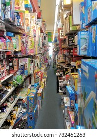 Miami Beach, FLORIDA – October 15, 2016: An old-fashioned toy store on Miami Beach is getting ready for the upcoming holidays to accommodate Jewish and Christian families.