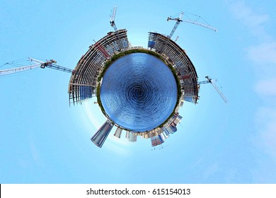 Miami Beach, Florida Tiny Planet Small World Building Construction Architecture