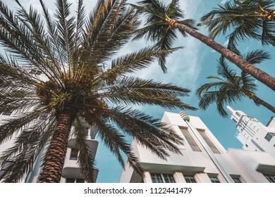 Miami Beach, Florida / United States - June 23rd 2018: The Ritz Plaza hotel, at 1701 Collins Ave in the art deco district.