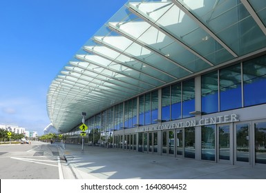 MIAMI BEACH, FLORIDA, USA:  Miami Beach Convention Center, home of Art Basel international art show was redesigned in 2018 at a cost of $615 millions as seen on February 6, 2020.