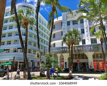 Miami beach, Florida, USA - July 16, 2016: Located just a few blocks off the beach, Lincoln Road Mall is South Florida's premier outdoor shopping, dining, and entertainment destination