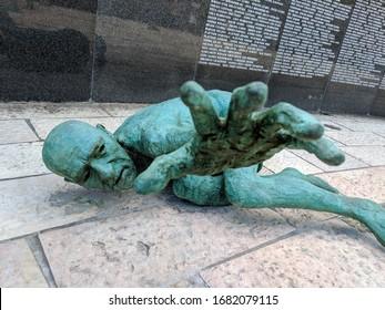 Miami Beach, Florida / USA - October 27, 2018: Holocaust Memorial Miami Beach