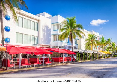 Miami Beach, Florida, USA on Ocean Drive.