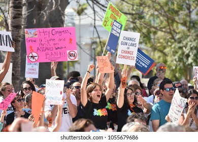 MIAMI BEACH, FLORIDA/USA - March 24 2018: March For Our Lives