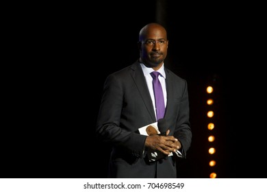"""Miami Beach, FL/USA - August 13, 2017: Van Jones speaks to the audience during the """"We Rise Tour"""". Van Jones is a CNN Reporter and Contributor."""