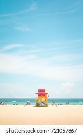 Miami beach lifeguard tower Florida