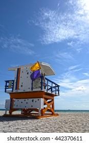 Miami Beach lifeguard, USA.