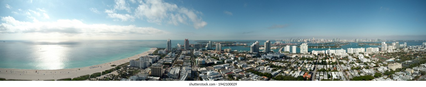 Miami Beach panorama shot with a drone