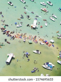 Miami beach sandbar boat party  - Shutterstock ID 1574695633