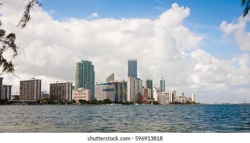 Miami Beach skyline. Florida, USA