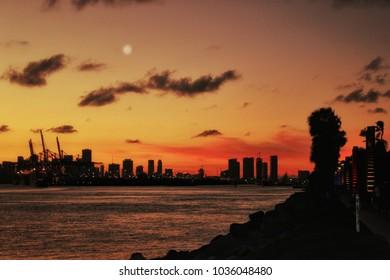 Miami Beach South sunset