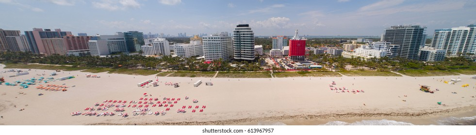 MIAMI BEACH, USA - APRIL 1, 2017: Miami Beach Faena House aerial image