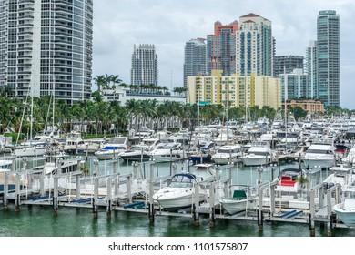 Miami bech marina on south beach Florida