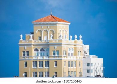 Miami City Hall, historical building. Miami Beach, South Beach, Florida, USA.