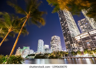 Miami cityscape at dusk, Florida