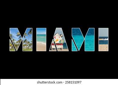 Miami collage photo.