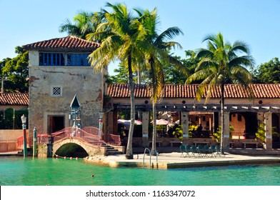 MIAMI CORAL GABLES FLORIDA 10 29 2012: Venetian Pool is a historic U.S. public swimming pool located in Coral Gables, Florida. Completed in 1924, it was designed by Phineas Paist with Denman Fink