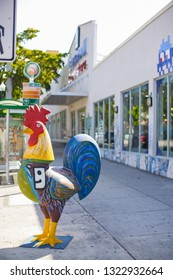 MIAMI - FEBRUARY 24, 2019: Miami 8th street goodwill rooster sculpture image