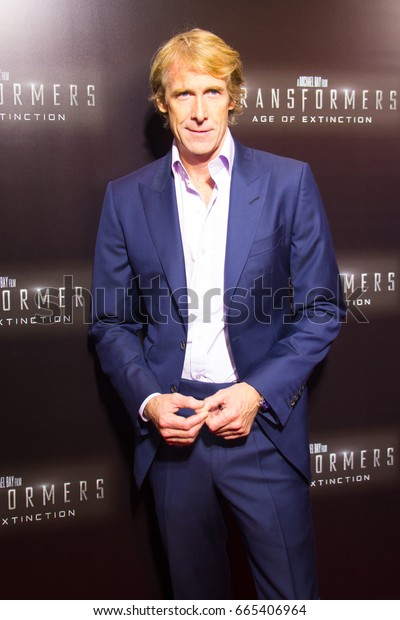 MIAMI, FL - June 26, 2014: Michael Bay arrives at the Miami premiere of Transformers: Age of Extinction on June 26, 2014, in Miami Florida.