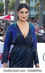 MIAMI, FL - MAY 13, 2017: Priyanka Chopra arrives at the premiere of Baywatch the movie on May 13, 2017, in Miami Florida.
