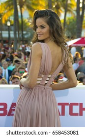 MIAMI, FL - MAY 13, 2017: Izabel Goulart, arrives at the premiere of Baywatch the movie on May 13, 2017, in Miami Florida