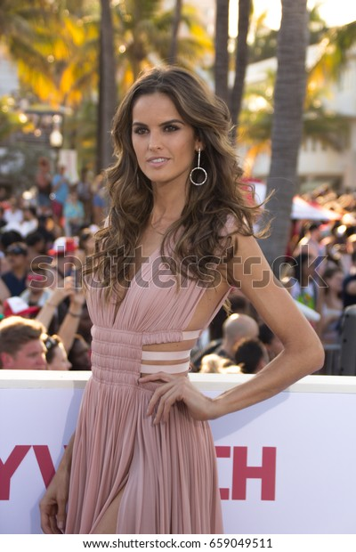 MIAMI, FL - MAY 13, 2017: Izabel Goulart arrives at the premiere of Baywatch the movie on May 13, 2017, in Miami Florida.