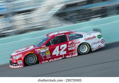 MIAMI, FL - Nov 15: Kyle Larson at the Nascar Sprint Cup Ford Ecoboost 400 practice at Miami Speedway in Homestead,FL on November15, 2014