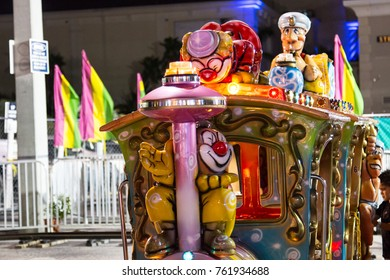 MIAMI, FL - NOVEMBER 22nd, 2017: Broward Fair at Gouldfstream Park with assortment kids and adults attractions, carousels, view wheels.