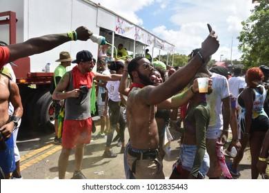 Miami, FL / USA - 10/08/2017. MIAMI JOUVERT CARNIVAL