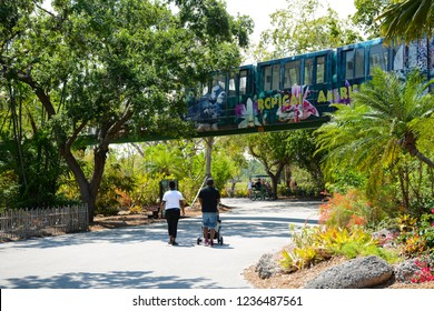 MIAMI, FL, USA - APRIL 29, 2018: Miami zoo one of the biggest zoo in United States