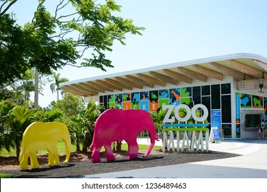 MIAMI, FL, USA - APRIL 29, 2018: Miami zoo one of the biggest zoo in United States