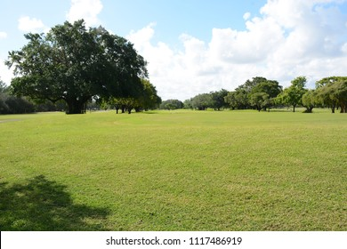 Miami, FL, USA - DECEMBER 4, 2017: Greynolds Park and Golf course located in North part of Miami, Florida
