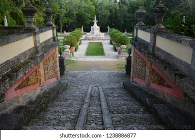 MIAMI, FL, USA - February 4, 2018: Vizcaya Museum and Gardens in Florida