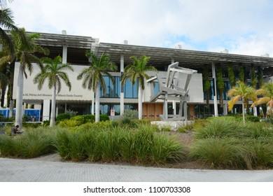 MIAMI, FL, USA - January 10, 2018 : View of Perez Art Museum