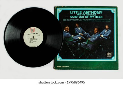 Miami, FL, USA: June 2021: Rhythm and blues soul vocal group Goin' Out of My Head is a song by Teddy Randazzo and Bobby Weinstein initially recorded by Little Anthony and the Imperials vinyl album