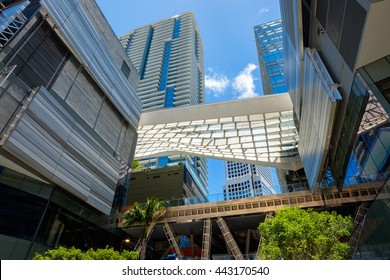 Miami, Fl USA - June 22, 2016: The Brickell City Centre construction project nearing completion in the popular downtown Brickell area.