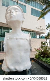 MIAMI, FL, USA - MAY 19, 2019: Girl without arms public art statue Downtown Miami FL