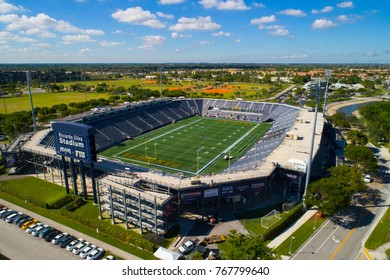 MIAMI, FL, USA - NOVEMBER 4, 2017: Aerial image of Florida International University Riccardo Silva Stadium