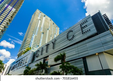 Miami, Florida - August 17, 2017: The Brickell City Centre is a newly constructed shopping mall located in the popular downtown Brickell area.