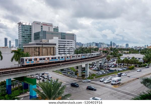 Miami Florida August 30 2016 Miami Stock Photo (Edit Now