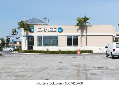 Miami, Florida January 15, 2018: Chase Bank. Chase is the U.S. Consumer and Commercial Banking Business of JPMorgan Chase III