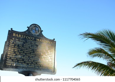 Miami, Florida - January, 4, 2018: Information sign at Haulover Naturist Beach, Florida