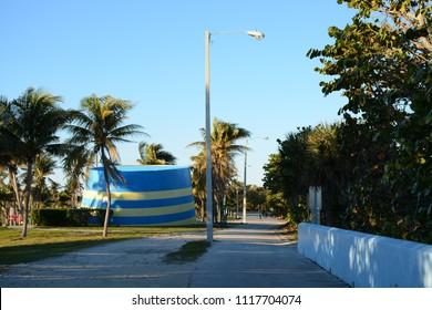 Miami, Florida - January, 4, 2018: Haulover Naturist Beach in Florida