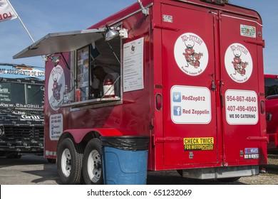 MIAMI, FLORIDA, MAY 31, 2017: Food Trucks Wednesday's at North Bay Village
