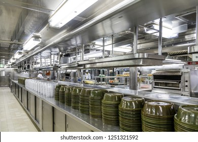 MIAMI, FLORIDA - September 23, 2015: Despite the long hours and hard work, kitchen positions are some of the better paying and most prestigious jobs on modern cruise ships.