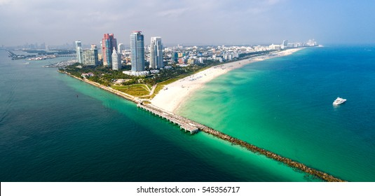 Miami Florida South Beach Aerial Panorama