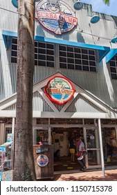 Miami, Florida / USA - April 10, 2014: The Bubba Gump market in Miami. The Bubba Gump Shrimp Company Restaurant and Market is a seafood restaurant inspired by the 1994 movie Forrest Gump.