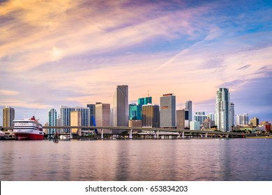 Miami, Florida, USA skyline.