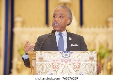 "Miami, FL/USA - November 11, 2017: Rev. Al Sharpton address the audience at the ""Prayer Service"" at the Historic Saint Agnes' Episcopal Church."